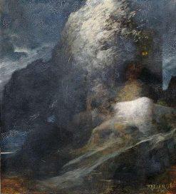 Nightly Island of the Dead | Ferdinand Keller | Oil Painting