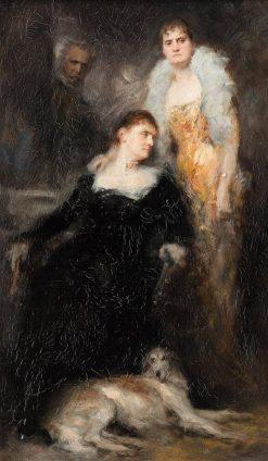 Les Inseparables | Ferdinand Keller | Oil Painting