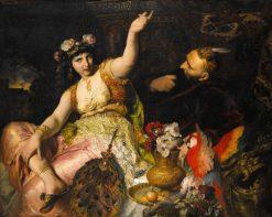 Sheherazade and Sultan Schariar | Ferdinand Keller | Oil Painting