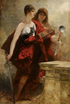 Study for the Apotheosis of Kaiser Wilhelm I | Ferdinand Keller | Oil Painting
