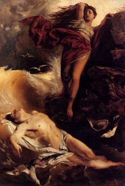 Hero Finding Leander | Ferdinand Keller | Oil Painting