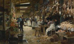 Paris Market | Victor Gabriel Gilbert | Oil Painting