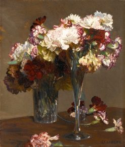 Still life of Carnations | Sir George Clausen