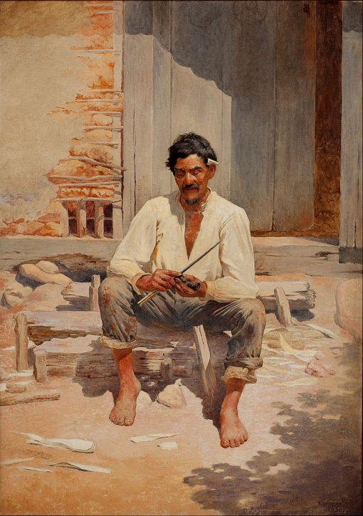 Caipira Cutting Tobacco | Jose Ferraz de Almeida Junior | Oil Painting
