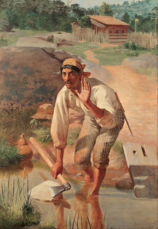 Interrupted Whetting | Jose Ferraz de Almeida Junior | Oil Painting