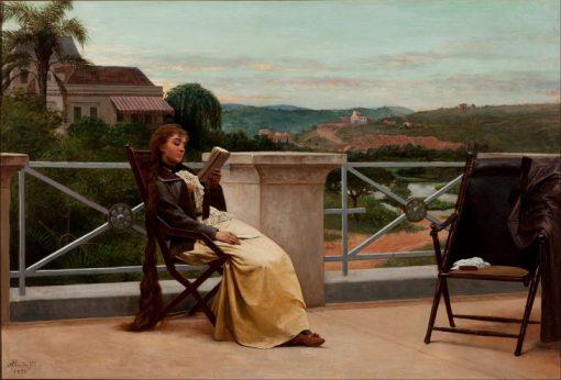 Reading | Jose Ferraz de Almeida Junior | Oil Painting