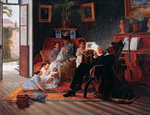 Adolfo Pintos Family | Jose Ferraz de Almeida Junior | Oil Painting