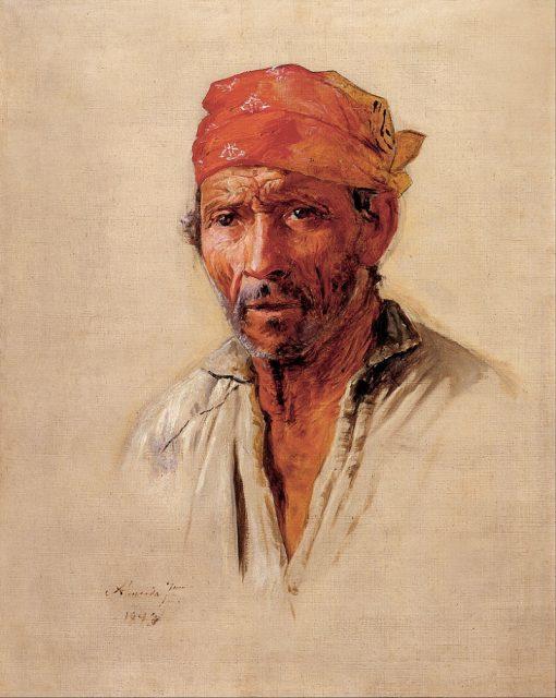 Study of Caipiras Head   Jose Ferraz de Almeida Junior   Oil Painting