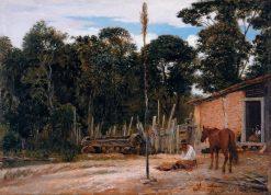 Tightening the Saddle | Jose Ferraz de Almeida Junior | Oil Painting