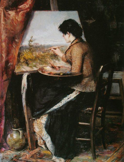 At the studio | Jose Ferraz de Almeida Junior | Oil Painting