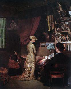The Model | Jose Ferraz de Almeida Junior | Oil Painting