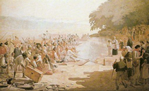 Moncão departing | Jose Ferraz de Almeida Junior | Oil Painting