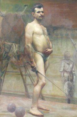 Portrait of Pierre de Fredy   Jose Ferraz de Almeida Junior   Oil Painting
