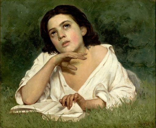Girl with a Book   Jose Ferraz de Almeida Junior   Oil Painting