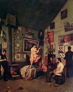 Studio in Paris   Jose Ferraz de Almeida Junior   Oil Painting