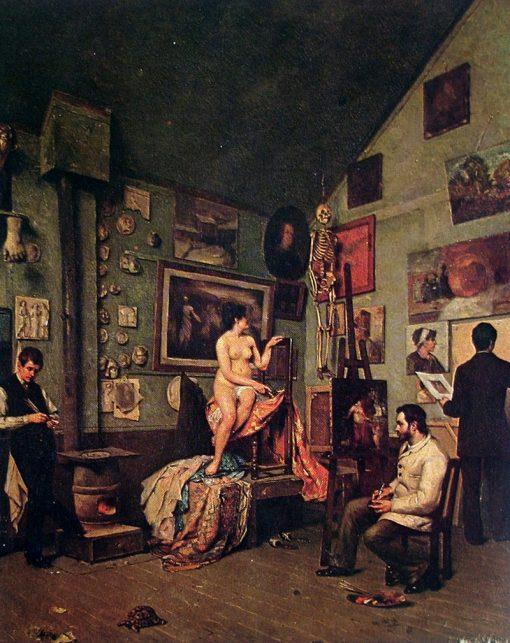 Studio in Paris | Jose Ferraz de Almeida Junior | Oil Painting