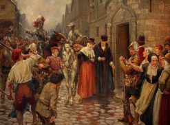 Queen Mary Brought Captive to Edinburgh from Carberry Hill