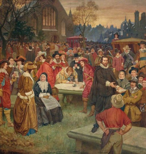 The Signing of the National Covenant in Greyfriars Churchyard