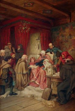 The Presentation of a Charter to the Burgesses of Edinburgh by King Robert the Bruce at Cardross | William Brassey Hole | Oil Painting