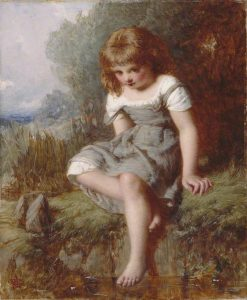 The Timid Bather   Henry Le Jeune   Oil Painting