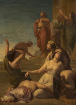 Ye daughters of Israel weep over Saul | Henry Le Jeune | Oil Painting