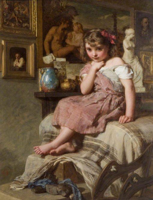 My Little Model | Henry Le Jeune | Oil Painting