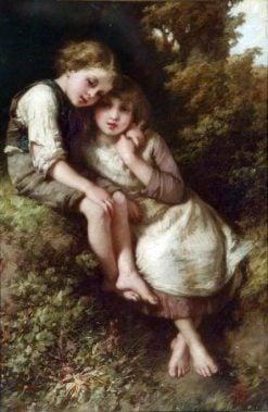 The Children   Henry Le Jeune   Oil Painting