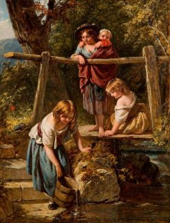 Children at a Stream | Henry Le Jeune | Oil Painting