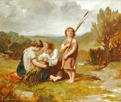 Rush Gatherers | Henry Le Jeune | Oil Painting