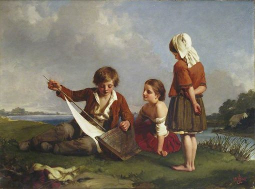 Children with a Toy Boat   Henry Le Jeune   Oil Painting