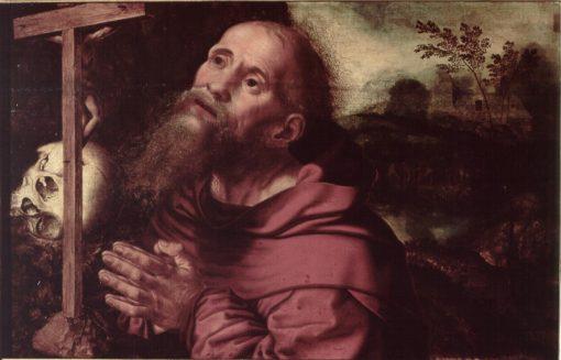 St. Jerome Praying   Jan Sanders van Hemessen   Oil Painting