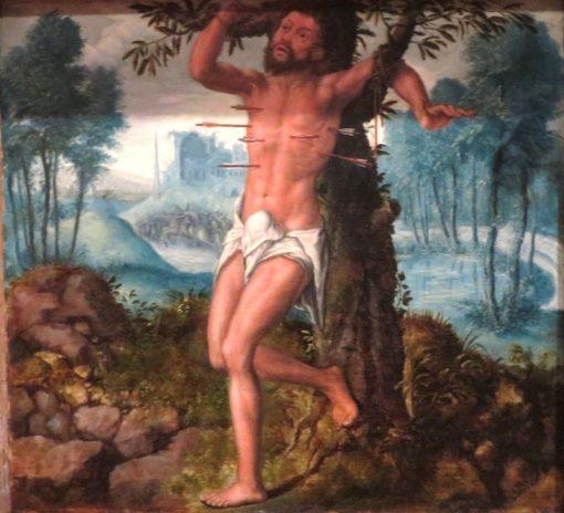 Saint Sebastian   Jan Sanders van Hemessen   Oil Painting