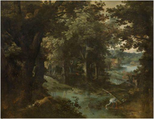 Landscape with Fables   Adriaen van Stalbemt   Oil Painting