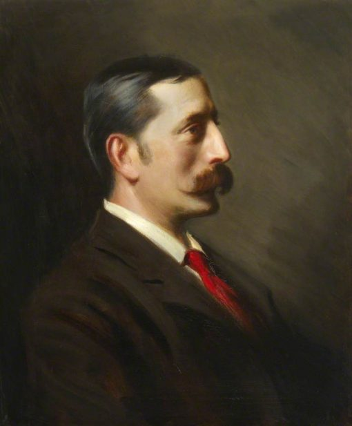 Lionel Solomon Benson   Hubert von Herkomer   Oil Painting