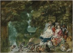 A Wooded Landscape with an Allegory of the Four Elements | Adriaen van Stalbemt | Oil Painting