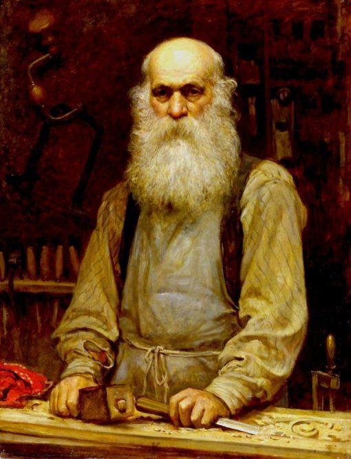 Lorenz Herkomer (the artists father) | Hubert von Herkomer | Oil Painting