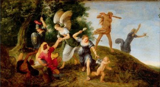 Protectors of the Young Artist | Adriaen van Stalbemt | Oil Painting