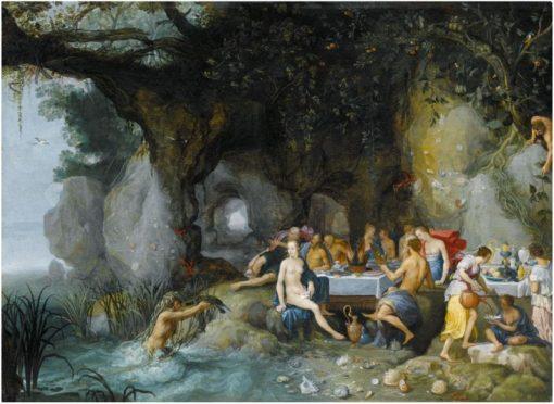 The Feast of the Gods   Adriaen van Stalbemt   Oil Painting