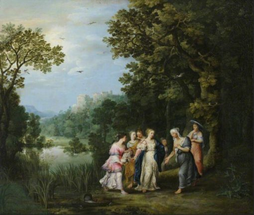 The Finding of Moses | Adriaen van Stalbemt | Oil Painting