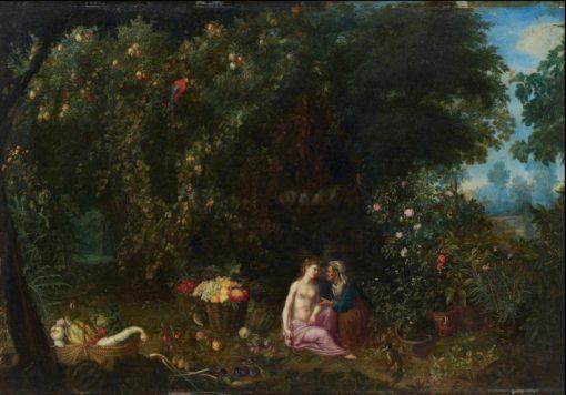 Vertumnus and Pomona in a Landscape   Adriaen van Stalbemt   Oil Painting