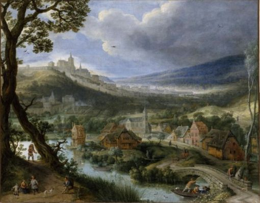 View of a Scene near Brussels | Adriaen van Stalbemt | Oil Painting