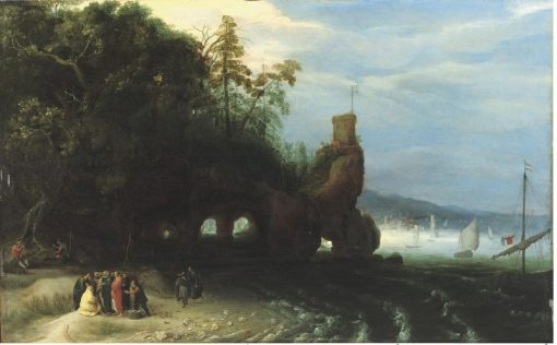 Christ preaching at the Sea of Galilee | Adriaen van Stalbemt | Oil Painting