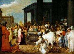 Paul and Barnabas at Lystra | Adriaen van Stalbemt | Oil Painting