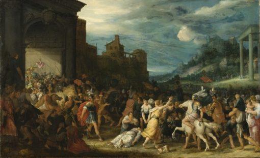 The Horatii Entering Rome   Adriaen van Stalbemt   Oil Painting