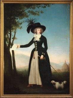 Portrait of a lady in a black redingote   Louis Gauffier   Oil Painting