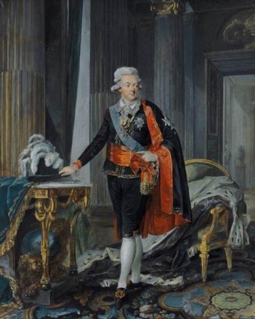 King Gustav III of Sweden   Niklas Lafrensen   Oil Painting