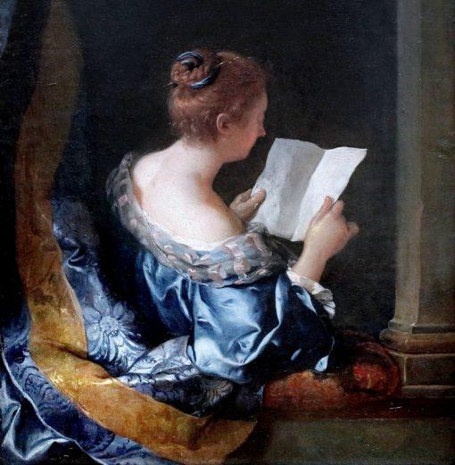 A woman reading | Jean-Francois de Troy | Oil Painting