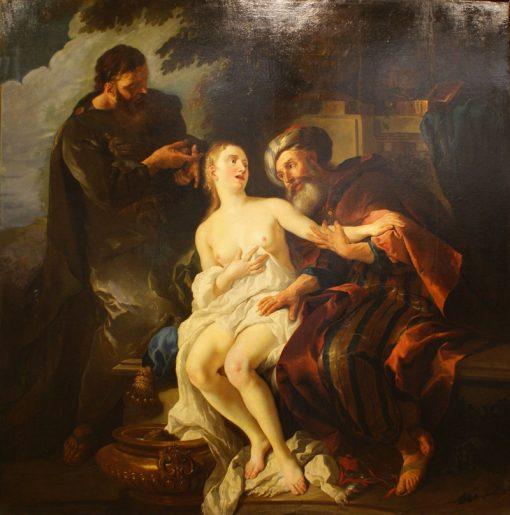 Susanna and the Elders   Jean-Francois de Troy   Oil Painting