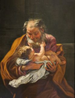 St. Joseph and the Infant Christ | Giovanni Battista Gaulli | Oil Painting