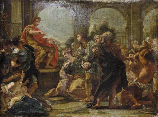 The Continence of Scipio | Giovanni Battista Gaulli | Oil Painting